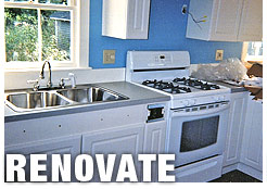 We can renovate any space- update your kitchen, bathroom or living space